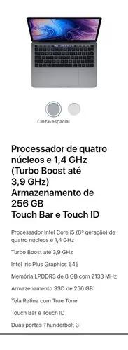 Macbook pro 2019 muhp2 1.4-3.9ghz 8gb 256gb r$ 9.800 à