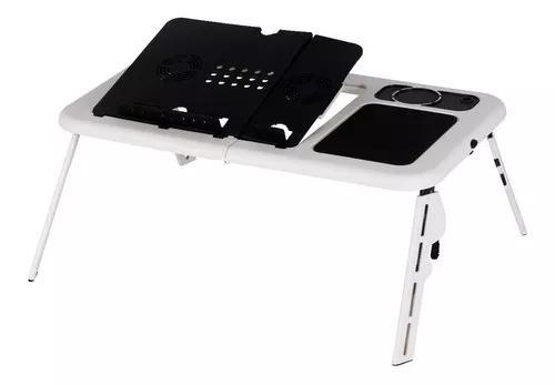Mesa notebook dobrável base cama portátil cooler mousepad