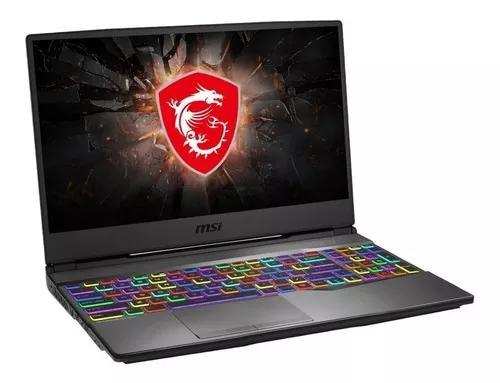 Notebook gamer msi i7 9 geração rtx 2070. estoque dolar