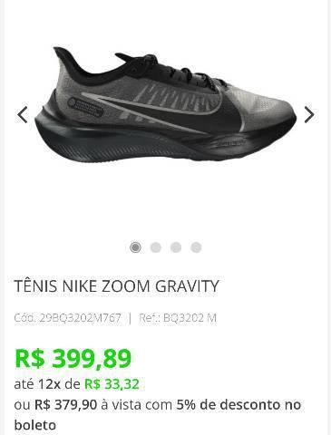 Tênis nike zoom gravity masculino n°40!! (leia o anúncio)