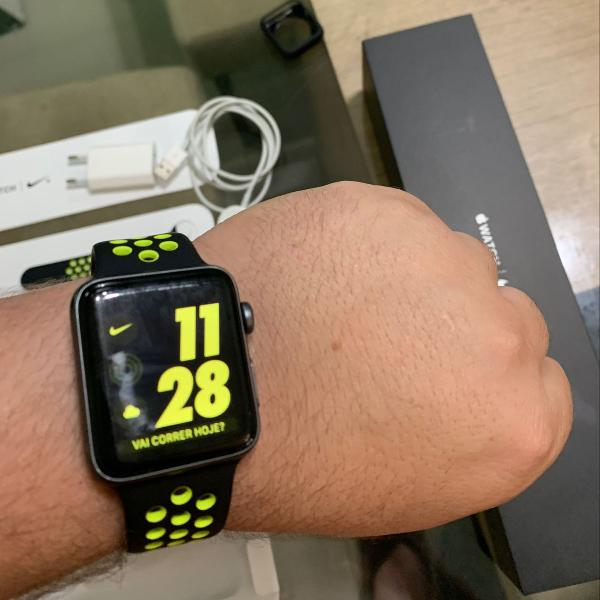 Apple watch series 3 42mm nike+ impecável!