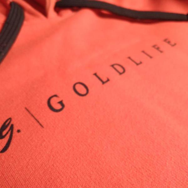 """Blusa moletom """"gold life"""" - cor laranja"""