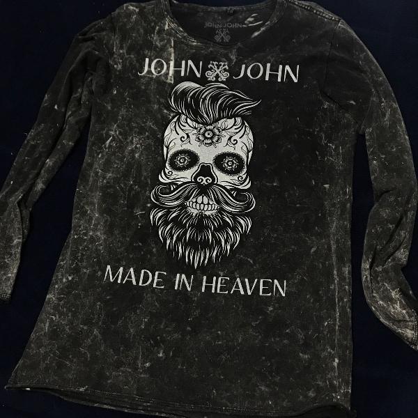 Camiseta manga longa - john john (ótimo estado)