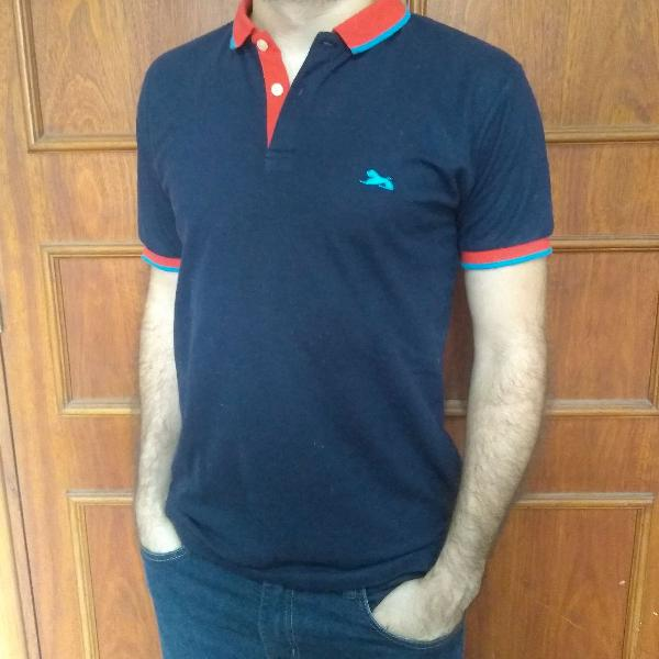 Camiseta polo tng azul marinho