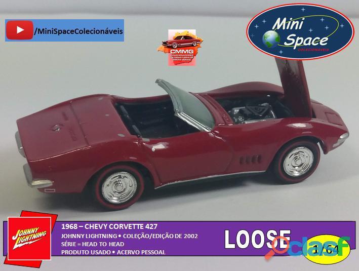 Johnny Lightning 1968 Chevy Corvette 1/64   Loose 5