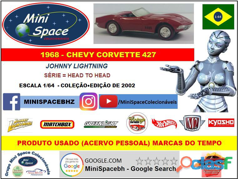 Johnny Lightning 1968 Chevy Corvette 1/64   Loose 1
