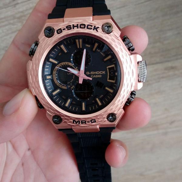 Relógio g shock cabeça de metal