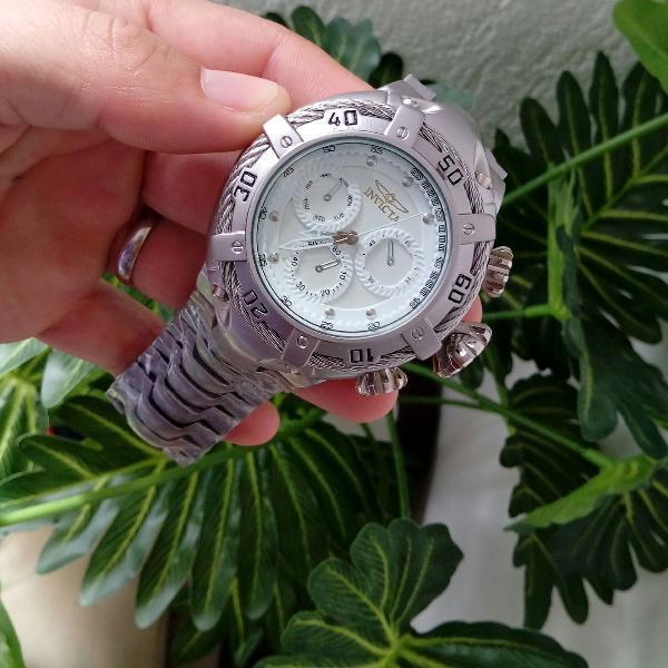Relógio masculino thunderbolt prata