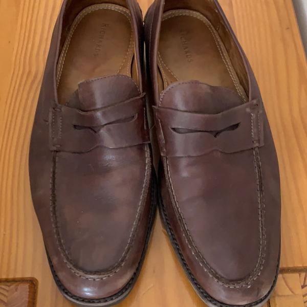Sapato couro marron richards