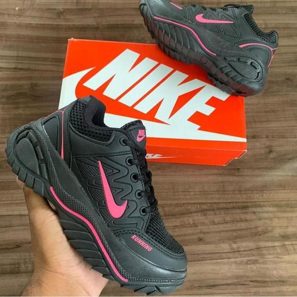 Tênis nike running pto/rosa n*39