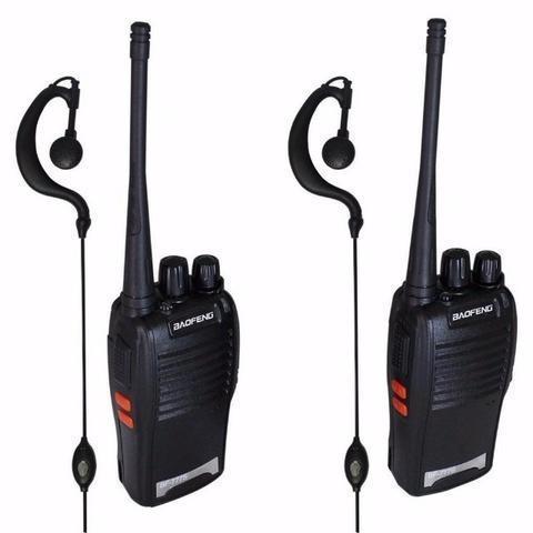 2 rádios de comunicação ht uhf vhf 16 canais completos