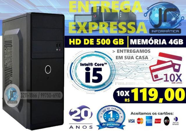 Computador intel® core i5 10x sem juros | memória 4gb | hd
