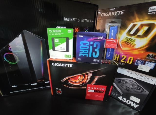 Entrega grátis - computador gamer intel i3 9100f ssd 240 gb