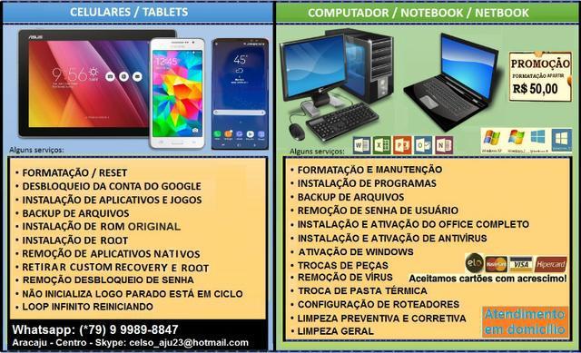 Formatação de notebooks - ultrabook - netbook - desktop