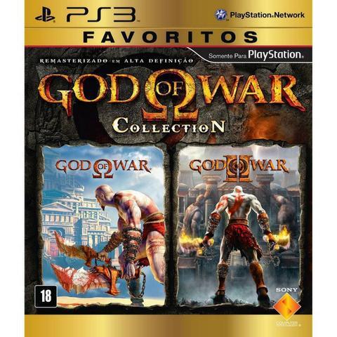 God of war collection ps3 psn mídia digital promocao
