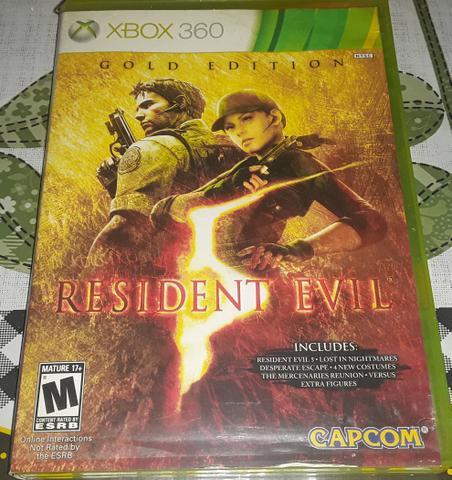 Jogo original resident evil 5 = $45