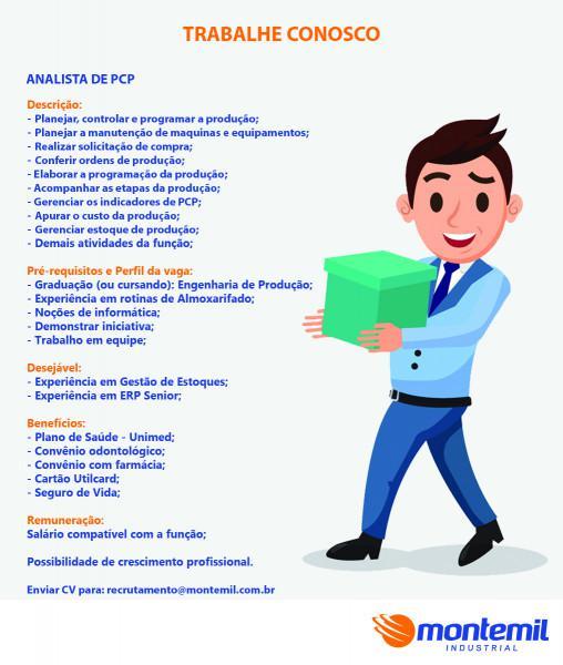 Montemil contrata - analista de pcp