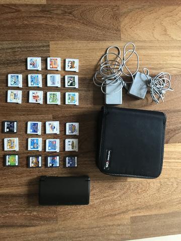 Nintendo 3ds usado em perfeito estado, com 23 jogos, case e