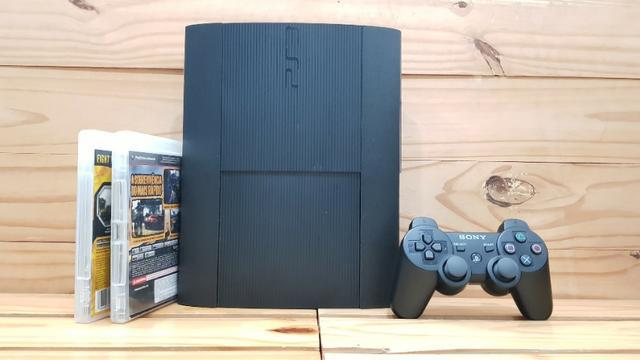 Ps3 super slim completo + garantia 3 meses