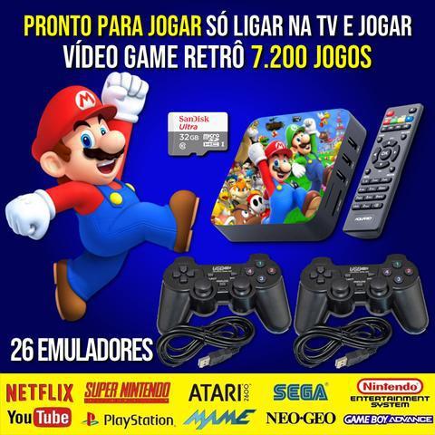 Video Game Retrô GameBox | 7200 Games | 26 Emuladores