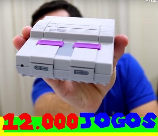 Video game retro game box - controle de ps2 ou super,