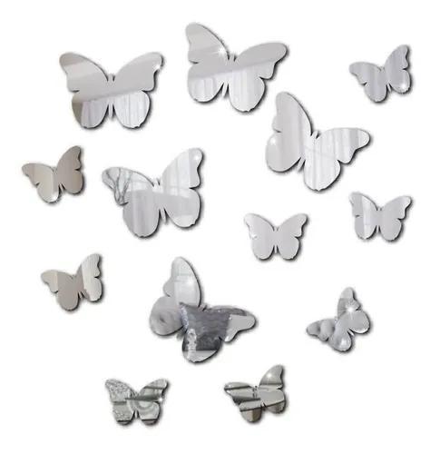 13 borboletas espelho decorativo acrílico sacada quarto