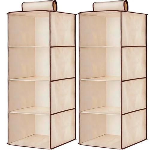 2 sapateira organizador prateleira suspensa 4 nichos closet