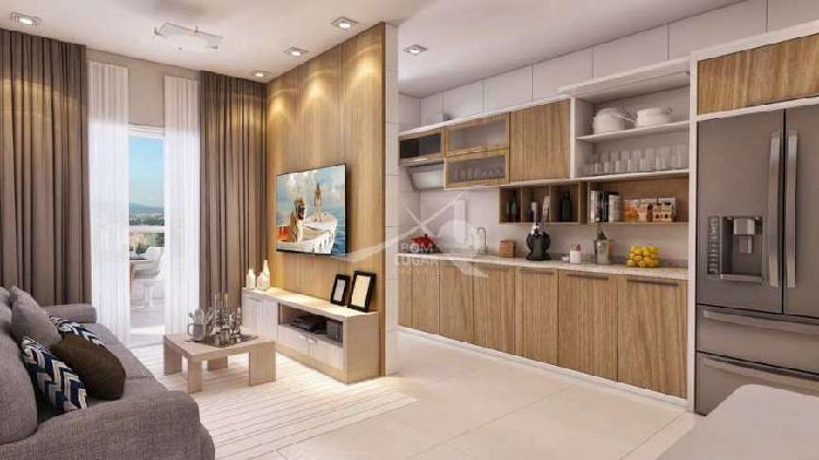 Apartamento com 2 dorms, tupi, praia grande - r$ 272 mil,