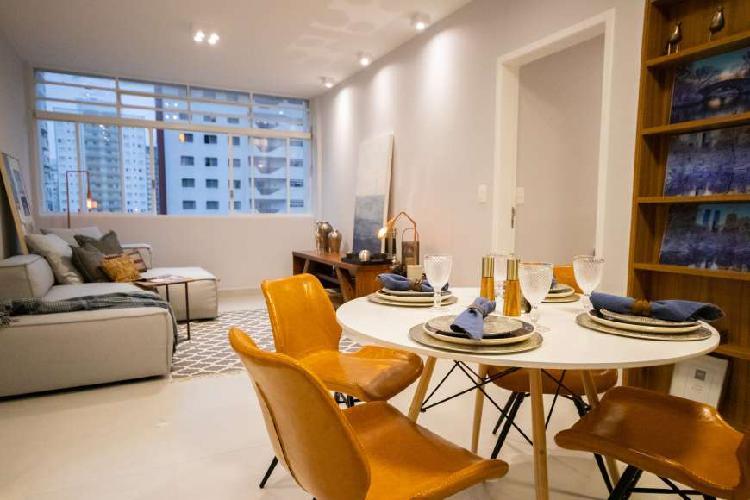 Apartamento com 84m² , 2 dormitórios, 1 suíte e 1 vaga de