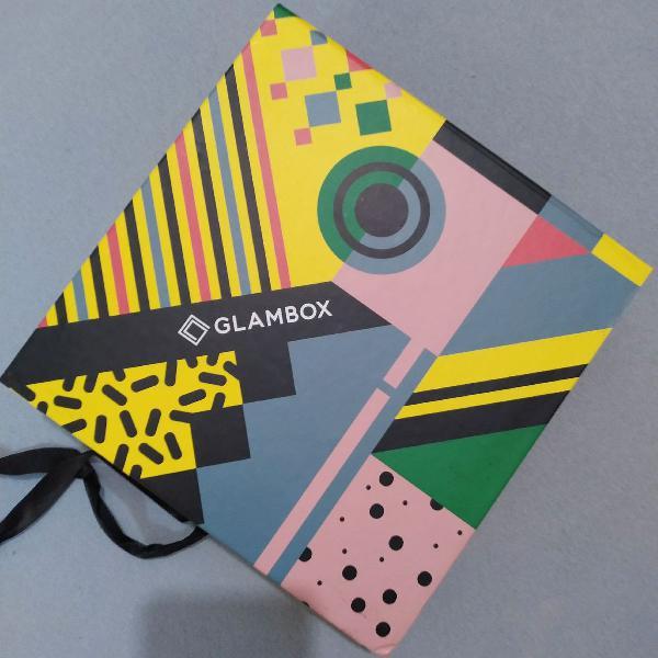 Caixa glambox organizadora amarela