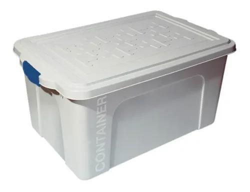 Caixa organizadora container 70l branco 67x43x33,5cm 1 un