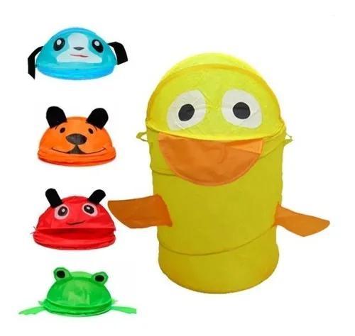 Cesto organizador dobrável infantil para brinquedos
