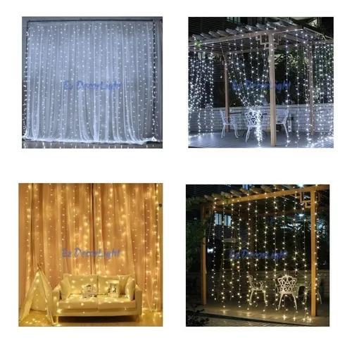 Cortina led luz 900l fixa 4x3 decorativa casamento