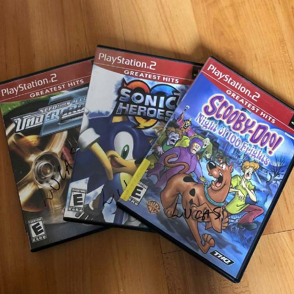 Jogos originais de ps2 (novos) - sonic hero e scooby-doo