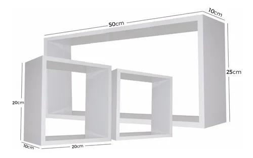 Kit 3 nichos mdf branco tx sala quarta banheiro decoração