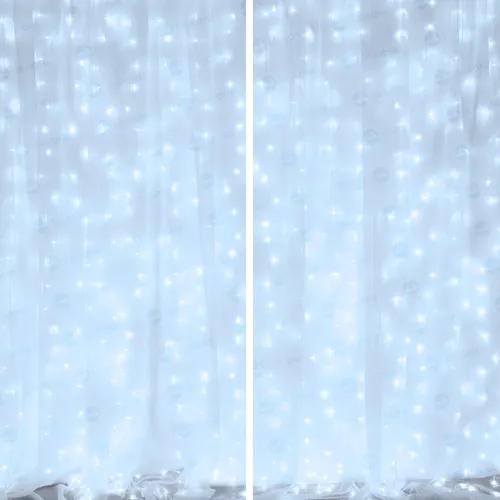 Kit flex 2 cortinas 300leds 3x2 110v fixas: escolha as cores