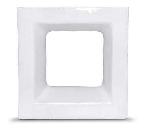Oferta!! cobogó vazado quadrado branco esmaltado 20x20x08