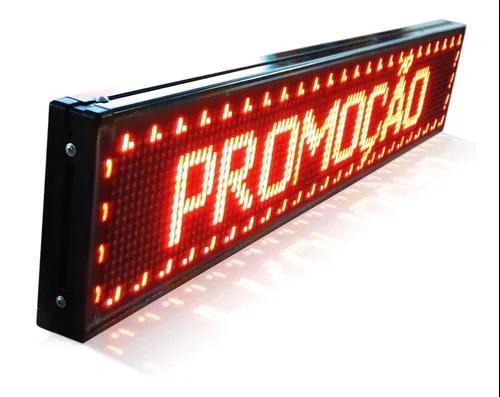 Painel de led letreiro digital 100x20cm + soft, alto brilho