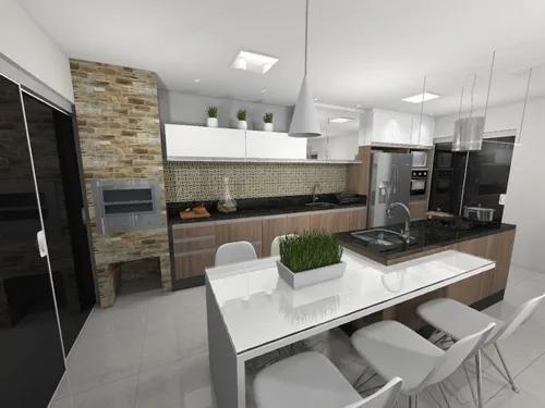 Projeto 3d cozinha - valor por ambiente