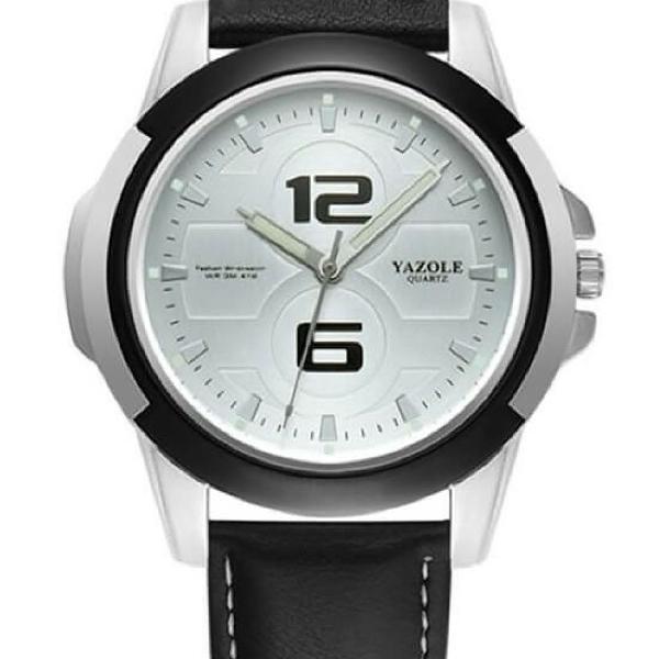 Relógio masculino luxo vintage elegante couro