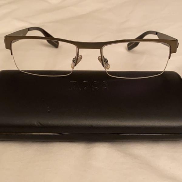 Armação óculos de grau masculino hugo boss