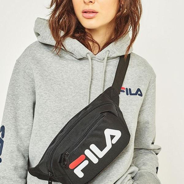 Bolsa pochete bag peitoral ajustável espaçosa preta