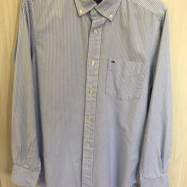 Camisa listrada tommy hilfiger original