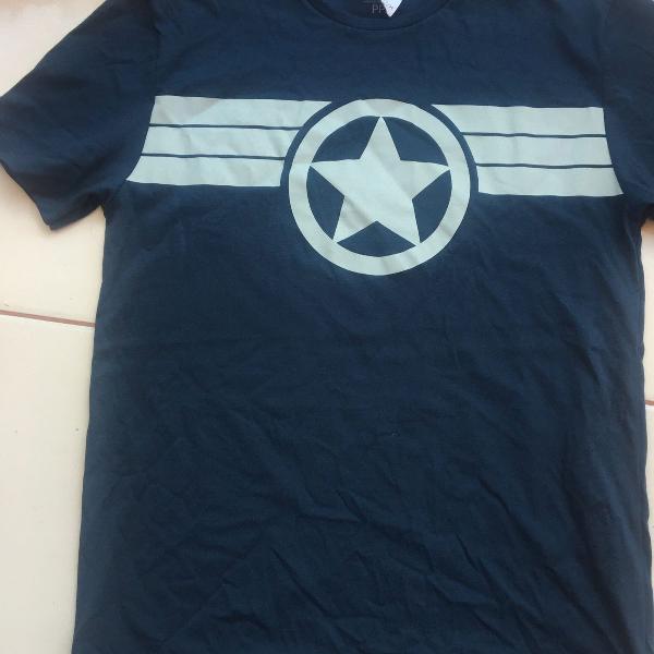 Camiseta c&a manga curta azul marinho