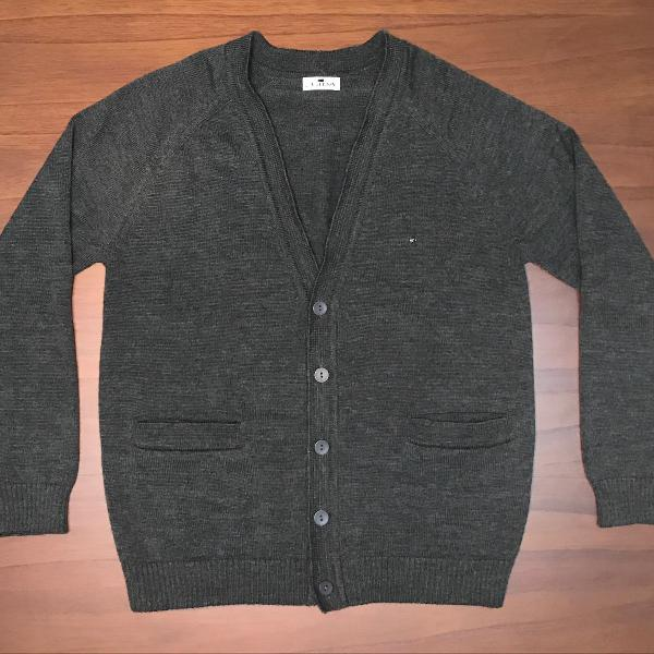 casaco cardigan de lã