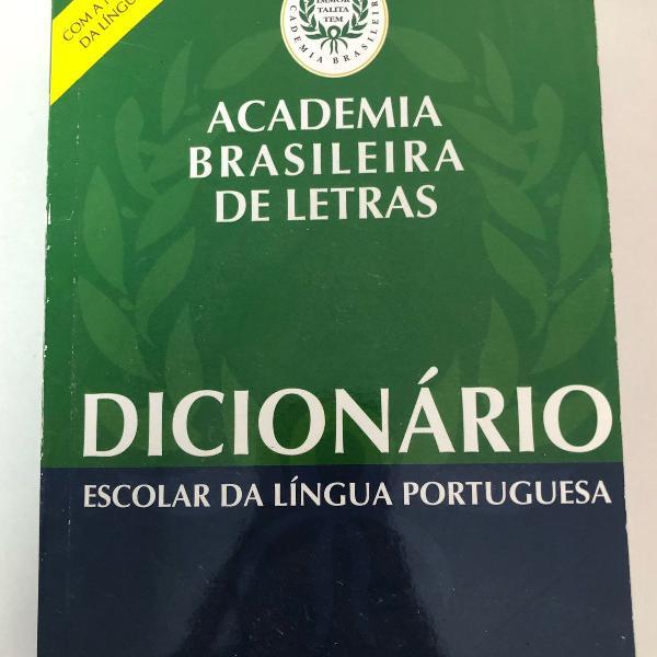 Dicionário escolar língua portuguesa