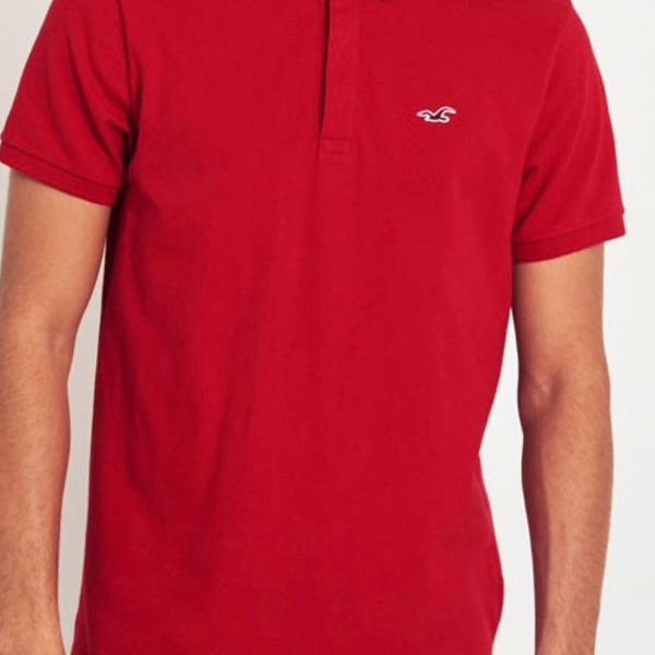 Hollister camisa polo vermelha com stretch tamanho m
