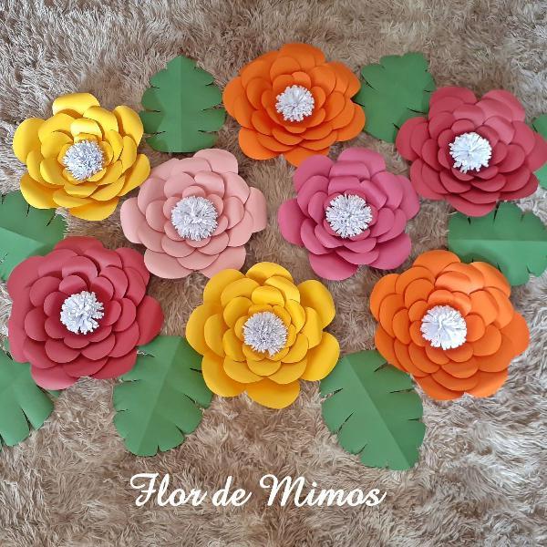 Kit flores de papel