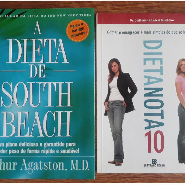 Kit livro dieta de south beach e dieta nota 10