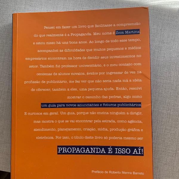 "Livro ""propaganda é isso aí"""